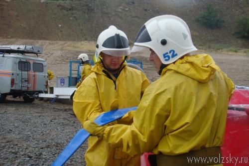 На Волжской ГЭС  прошли учения по ликвидации аварийного разлива нефтепродуктов