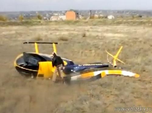 В Ерзовке упал вертолёт с журналистами