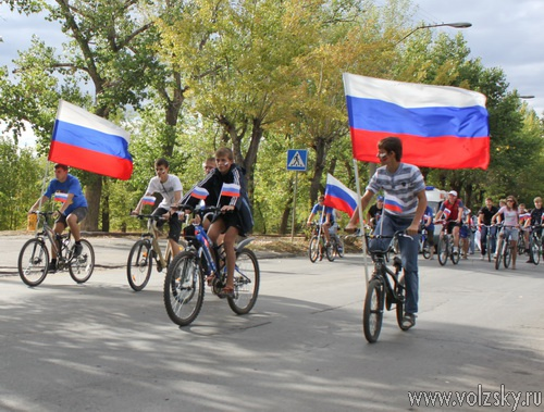 В Волжском прошёл велопробег