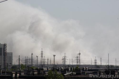 Городская свалка горит больше 18 часов