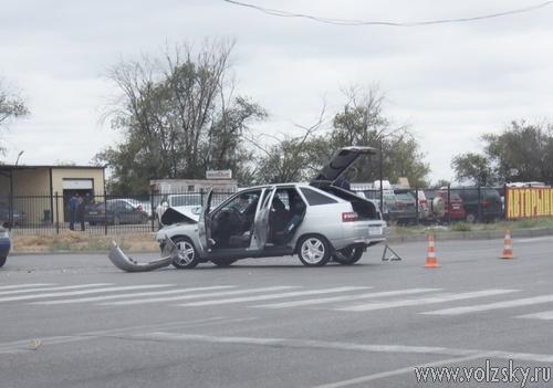 На трассе  столкнулись два автомобиля