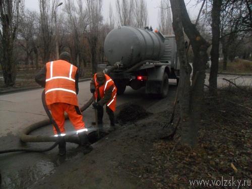В 2012 году в Волжском прочищено больше 10 километров ливневой канализации