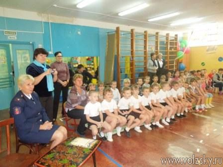 В Волжском детсадовцев обучают пожарной безопасности