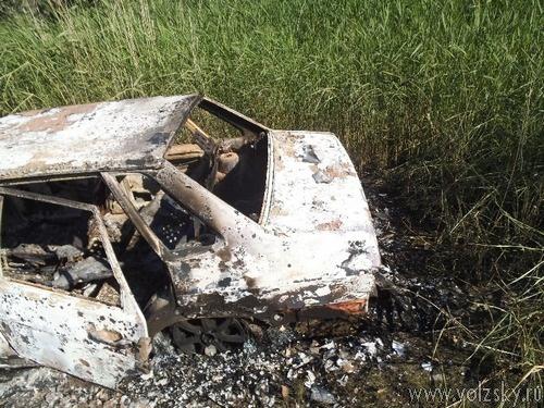 Автоугонщики сожгли свою