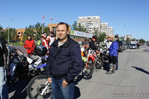 Через Волжский прошёл мотопробег, посвящённый 20-летию областной