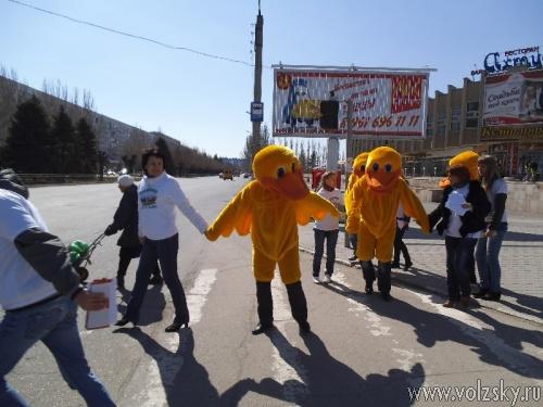 На дорогах Волжского появились «утки»