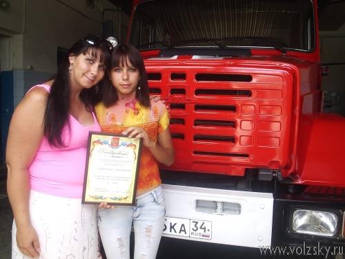 Школьницу наградили за спасение тонущего ребенка