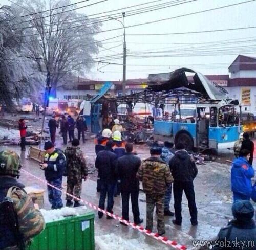 В Волгограде взорвали троллейбус