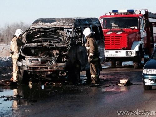 В Волжском ГАЗель загорелась прямо на ходу