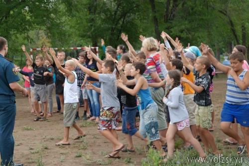 В Волжском лагере устроили учебный