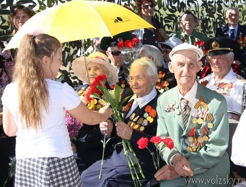 Волжане отмечают День Победы
