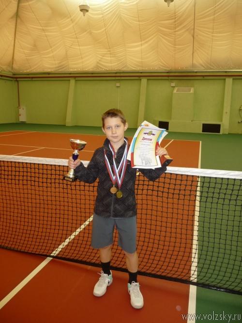 11-летний теннисист из Волжского стал лучшим в России