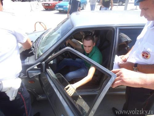 Очередную сходку посаженных «тачек» посетили инспектора ДПС
