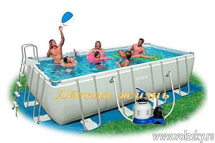 Каркасный бассейн Intex 28352 549 см х 274 см х 132 см.