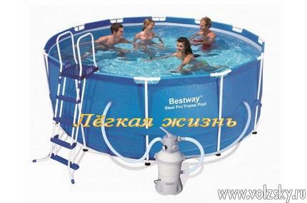 Каркасный бассейн Bestway 56088 366 см х 122 см.