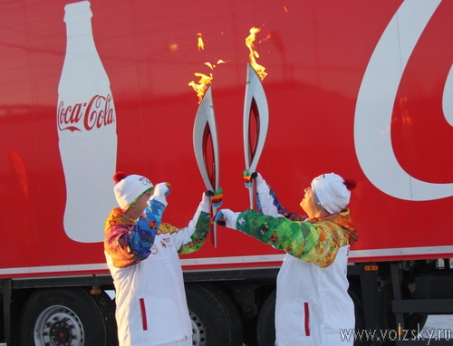 В Волжском потух Олимпийский огонь