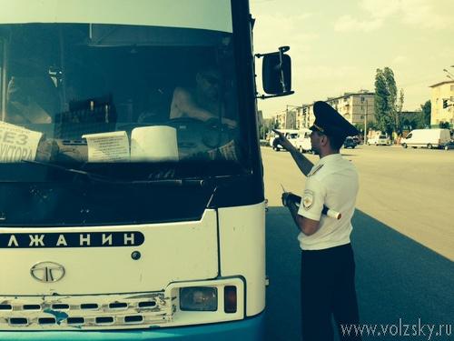 В Волжском состоялся рейд «Безопасная маршрутка»