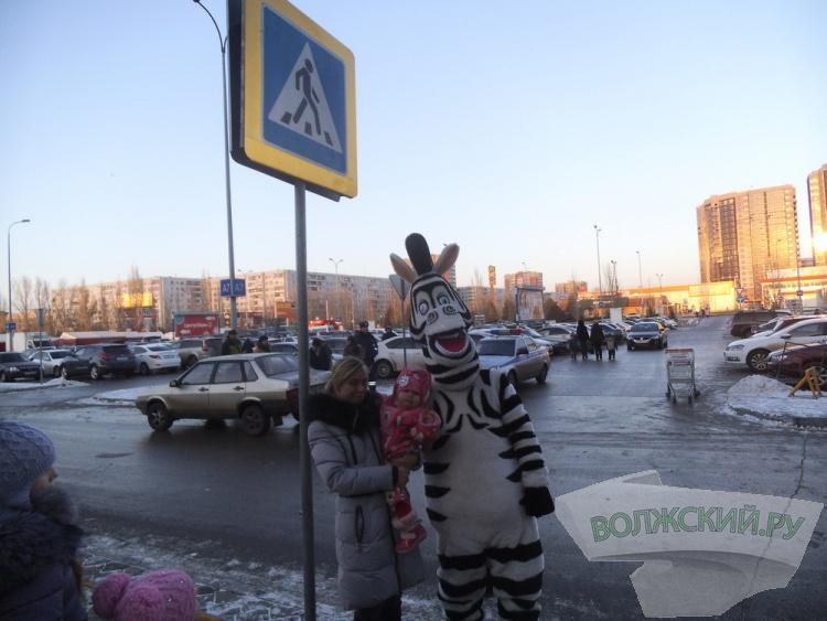 В Волжском Зебра учила детей переходить дорогу