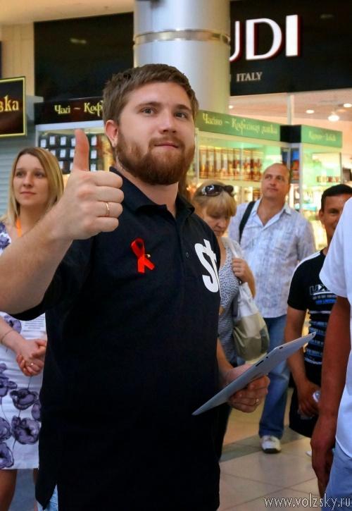 Волжане почтили память погибших от СПИДа