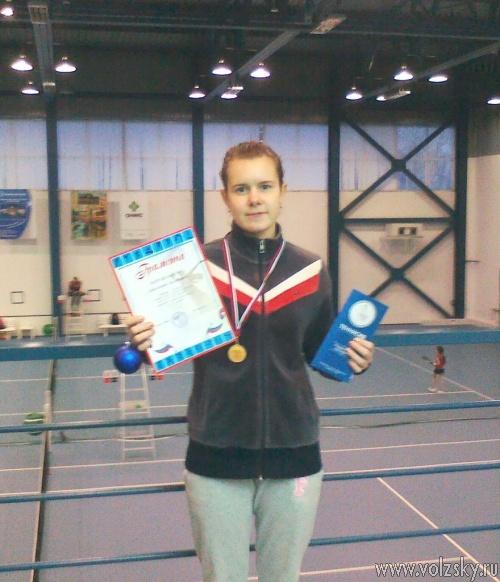 Волжанка отличилась на чемпионате по большому теннису