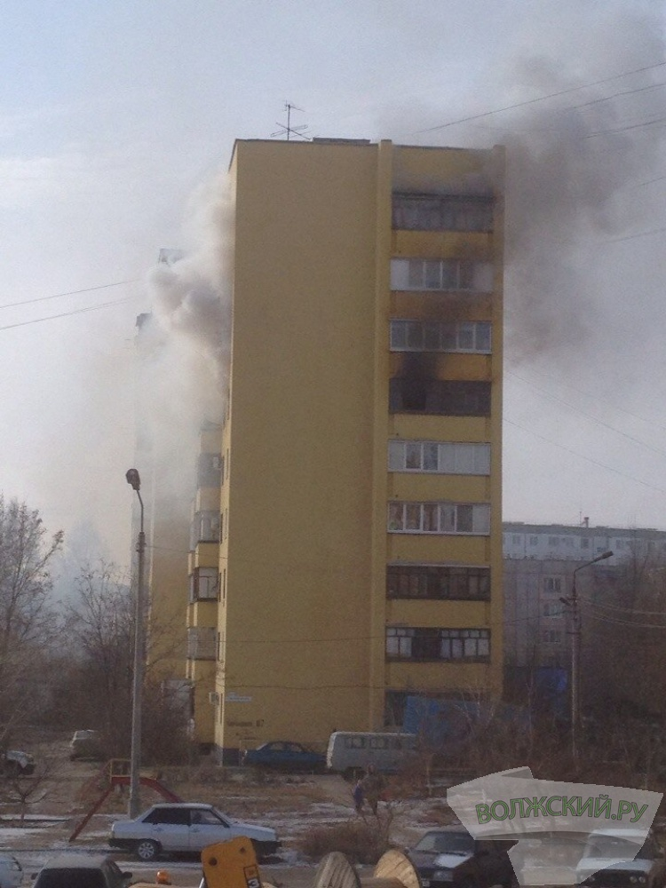 Волжанка пострадала на пожаре в своей квартире