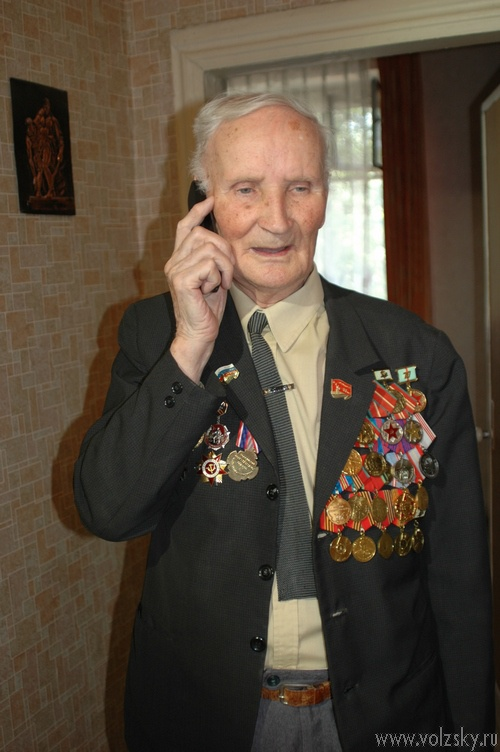 Волжский ветеран МВД Николай Королёв отметил 90-летний юбилей