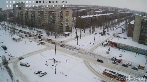 Волжский завалило снегом
