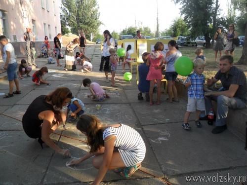 Юбилей Волжского отпраздновали самые маленькие его жители