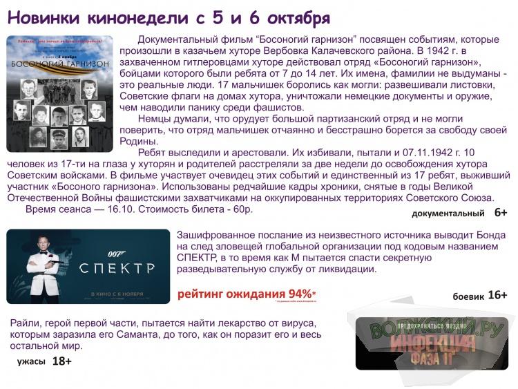 Кинотеатр Киномакс-Волжский представляет расширенный репертуар фильмов!