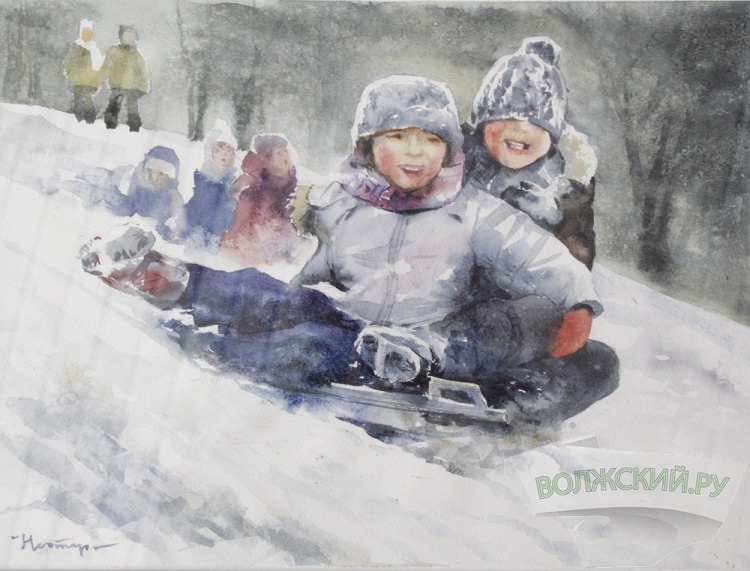 Волжанам покажут «зимние» картины местных художников