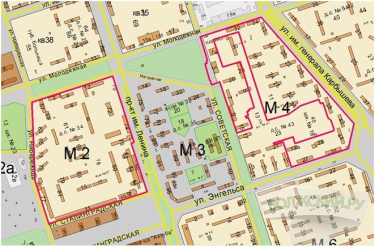 Горархитектура проектирует застроенные территории 2 и 4 микрорайонов