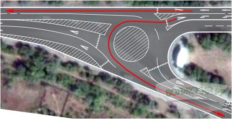 На въезде в Волжский появится круговое движение