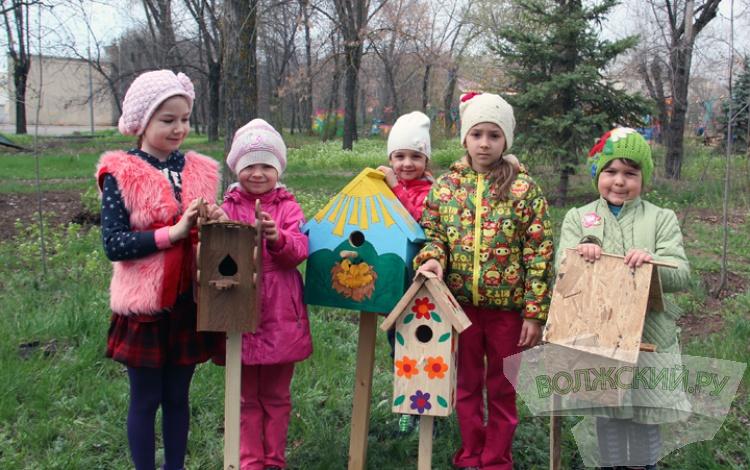 В парке «ВГС» высадили вербы и развесили скворечники