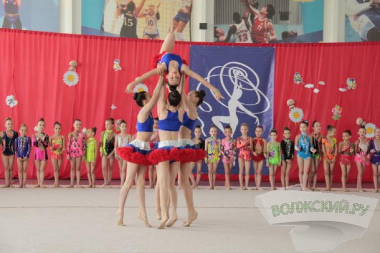 В Волжском состязались гимнастки
