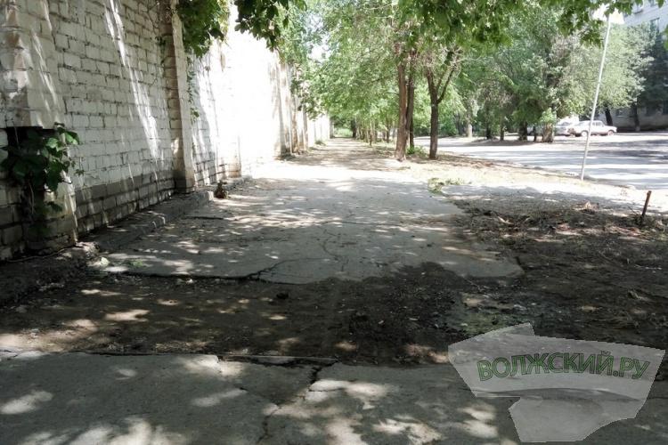В Волжском утверждена схема ремонта тротуаров на 2016 год