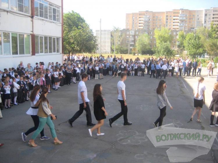 В волжской школе потушили условный пожар