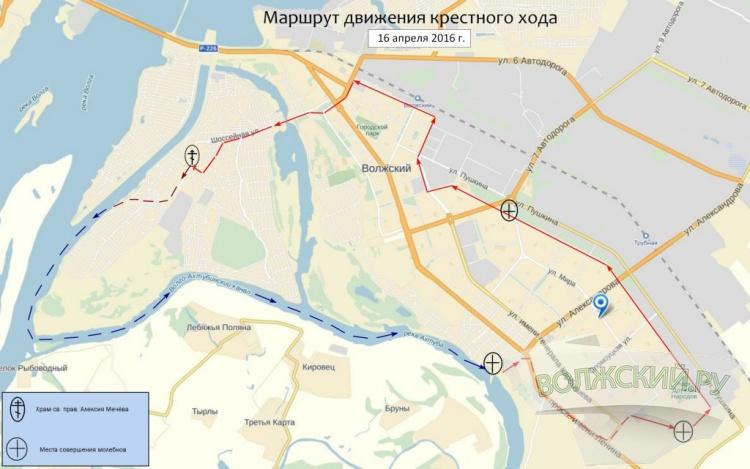 Верующие пройдут крестным ходом вокруг Волжского