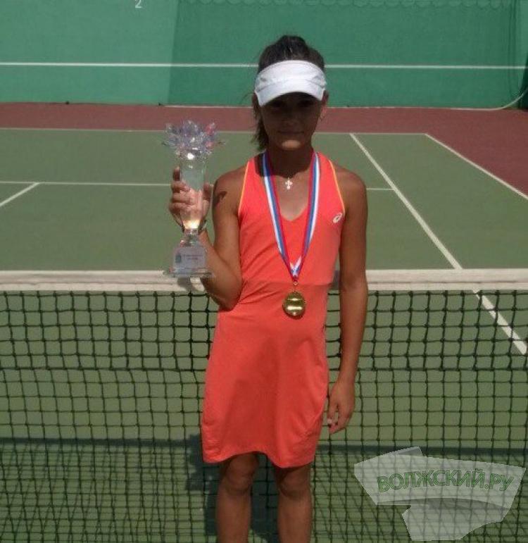 Волжане завоевали медали теннисного турнира