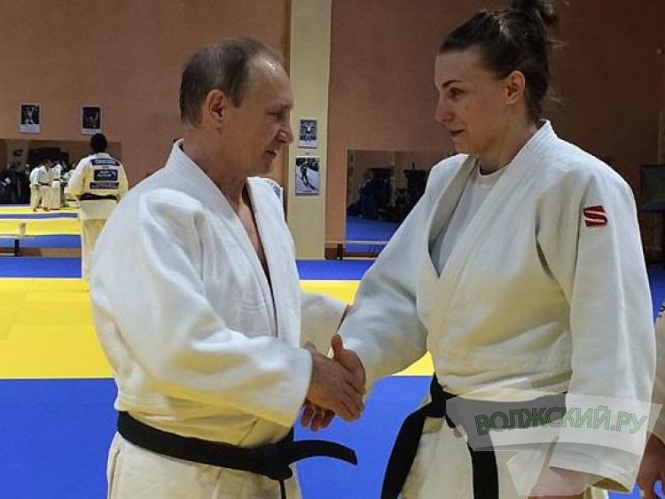 Волжская дзюдоистка попала на тренировку с Путиным