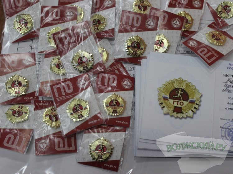 Золотые значки ГТО получили 80 юных волжан