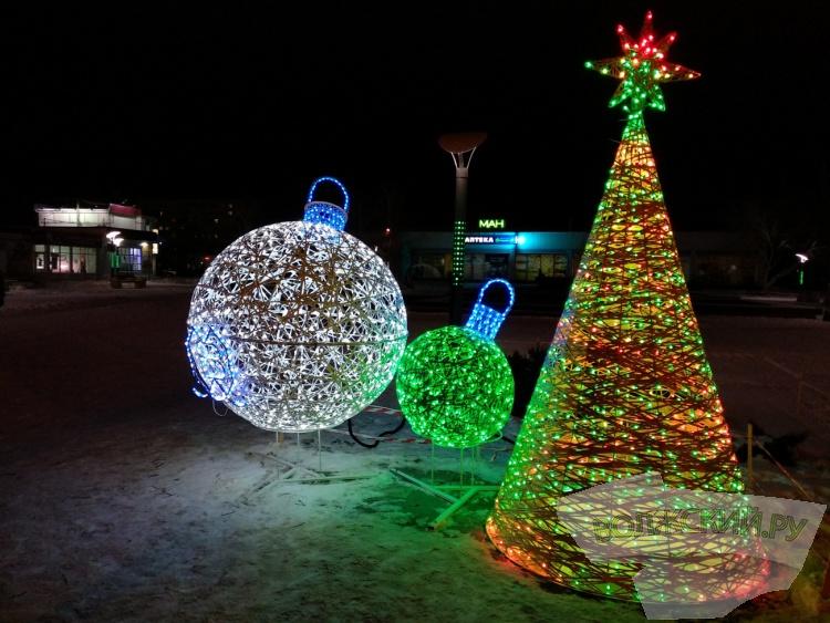 Волжский встречает Новый год в ярком сиянии