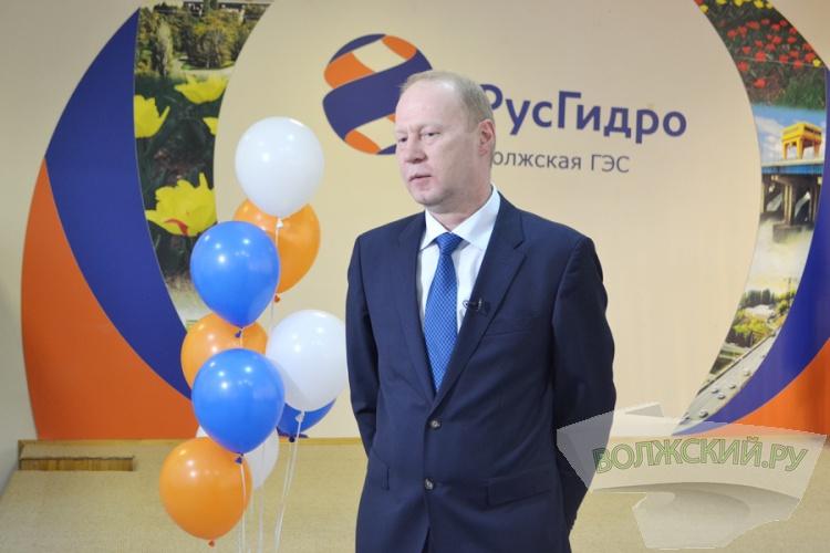 На Волжской ГЭС отметили День энергетика