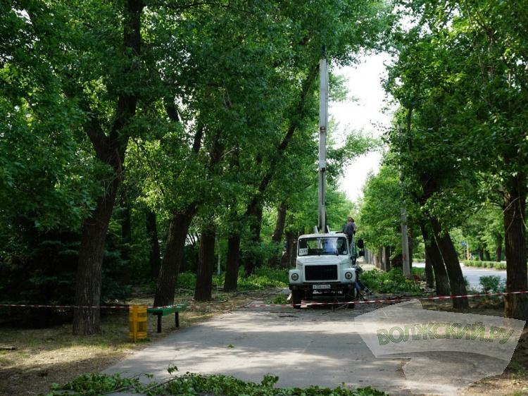 В Волжском благоустраивают парк Памятных дат