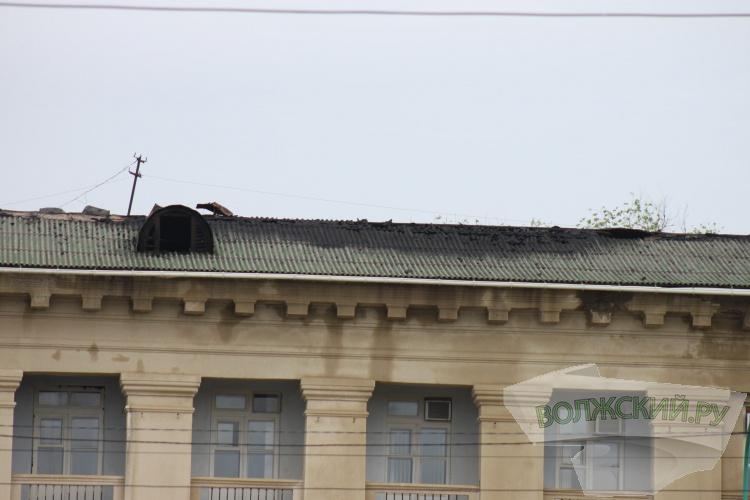 В Волжском горело здание городской мэрии