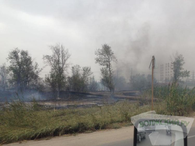 В Волжском из-за крупных пожаров введен режим ЧС