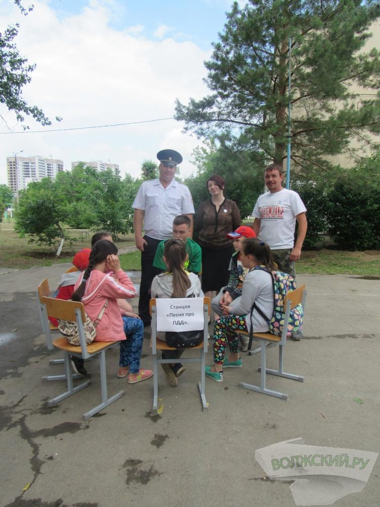 Волжские школьники соревновались в знании ПДД