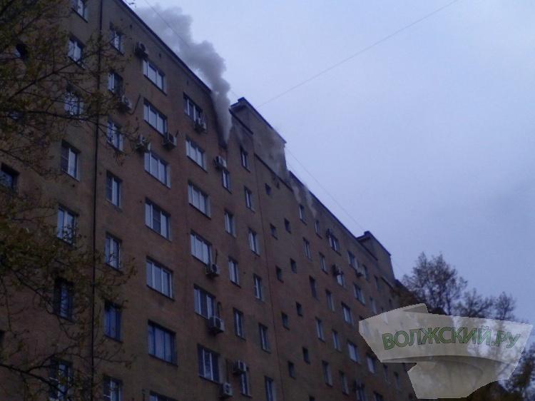 ВВолжском повине курильщика чуть несгорела девятиэтажка