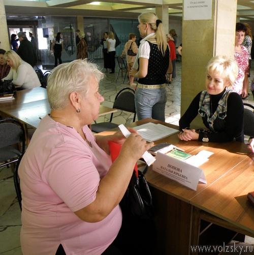 Мэр Волжского ответила на вопросы жителей. Фоторепортаж