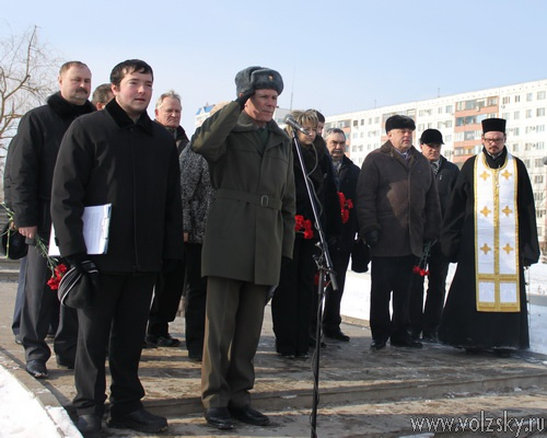 митинг посвященный 22 годовщине вывода советских войск из Афганистана