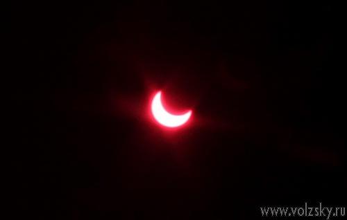 Солнечное затмение в Волжском